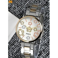 TOUS 2019 new flower dial quartz female watch #3