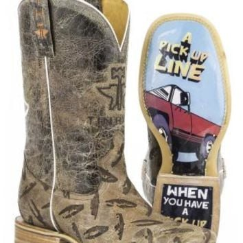Tin Haul Diamond Plate Lazer Pattern Boots | Urban Western Wear