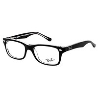 Glasses vista Ray-Ban Junior RY1531 3529 TOP BLACK ON TRANSPARENT