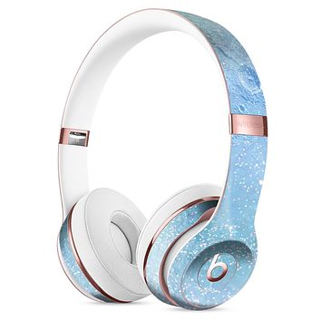 The Light Blue Cratered Moon Surface Full-Body Skin Kit for the Beats by Dre Solo 3 Wireless Headphones