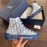 Dior B23 High-Top Sneakers Shoes Blue