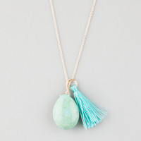 Full Tilt Turquoise Stone/Tassel Necklace Gold One Size For Women 25445662101