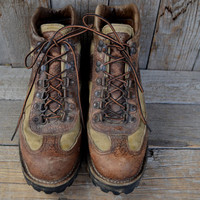 Vintage Danner Canvas and Leather Goretex Hiking Boots, Womens 9