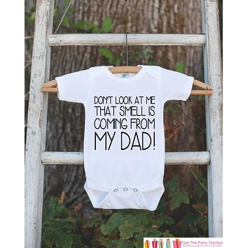 Funny Kids Outfit - Kids Happy Fathers Day Onepiece or Tshirt - Boy or Girl, Youth, Toddler, Kids, Baby Shower Gift Idea - First Fathers Day