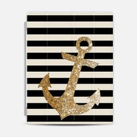 GLITTER ANCHOR IN GOLD AND BLACK - IPAD CASE iPad 3/4 case by Nika Martinez | Casetify