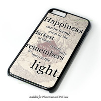 Happiness Quote Harry Potter Design for iPhone and iPod Touch Case