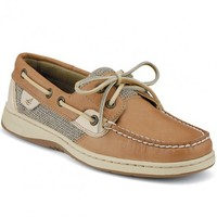 Women's Bluefish 2-Eye Boat Shoe in Linen Oat by Sperry Top-Sider