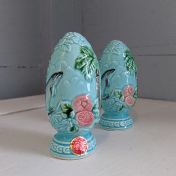 Vintage, Kitschy, Gorgeous, Florida, State, Shakers, Salt and Pepper Shakers, Blue, Scenic, Colorful, Kitchen Decor, RhymeswithDaughter