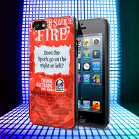 Taco Bell Sauce Fire iPhone 4, 4S, 5, 5C, 5S Samsung Galaxy S2, S3, S4 Case