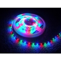 Hitlights 16.4ft Chasing Feature 3-Colors 3528 RGB Waterproof 300 LED Flexible Light Strip with Power Supply and 9 Dynamic Modes Remote Control