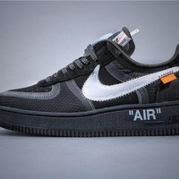 Off White OW x Air Force 1 Black Sneaker DCCK