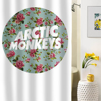 arctic monkeys logo flower shower curtain special custom shower curtains that will make your bathroom adorable