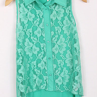 Pre-Order Jade Lace Button up tank from Monica's Closet Essentials