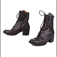 Ross Woven Boots by Jeffrey Campbell   Edge of Urge