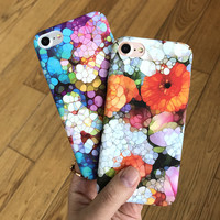 Retro Floral Case for iPhone 7 7Plus & iPhone se 5s 6 6 Plus High Quality Cover +Gift Box