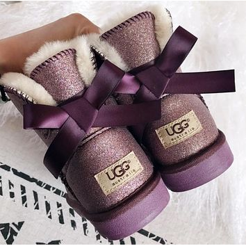 UGG Classic bow tie warm snow boots