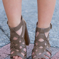 Let's Boogie Heels, Taupe