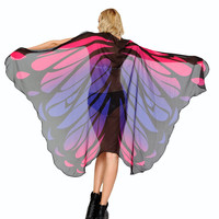 Neon Melting Pink and Purple Butterfly Rave Cape