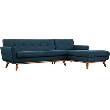 Engage Right-Facing Sectional Sofa, Azure