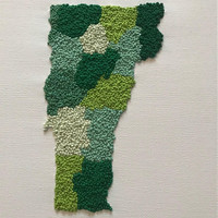 For Sale: State of Vermont, Hand Embroidered