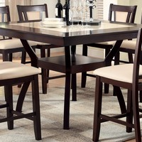 Persa Contemporary Faux Marble Counter Height Table