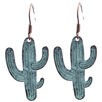 Cactus Earrings: Patina