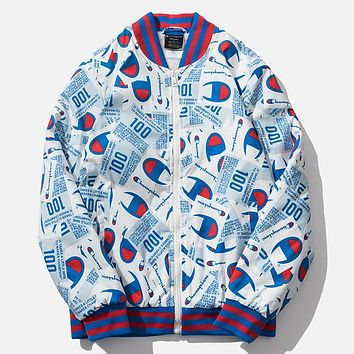 Champion New letter logo print couple cotton high quality clothing long sleeve coat