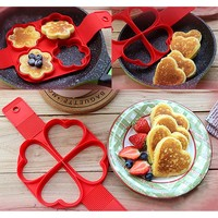 Non Stick Flippin' Fantastic Nonstick Pancake Maker Egg Ring Maker Kitchen Perfect Pancakes Easy Flip Breakfast Omelette Tools