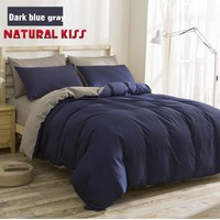 Simple Solid Color Bedding Sets Cotton Linen Comforter Duvet cover set Modern Design Twin/Queen/Full Quilt Cover Bed sheet