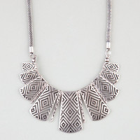 Full Tilt Geometric Paddle Statement Necklace Silver One Size For Women 24028414001