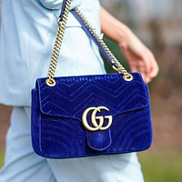 GG Marmont Small Women's Suede Shoulder Bag G