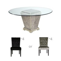 Chic Combo - Borghese Table + 4 Lola Side Chairs | Dining Room Furniture | Furniture | Z Gallerie