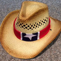 Rebel Flag Bandana Cowboy Hat