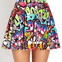 Graffiti Girl Skater Skirt