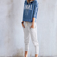 Marled Crop Jogger - French Terry - Victoria's Secret