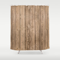 Wood I Shower Curtain by Bruce Stanfield