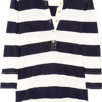 J.Crew | Striped cotton Henley top | NET-A-PORTER.COM