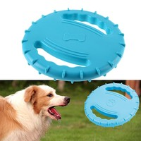 """19.5cm/7.67"""" Diameter Eco-friendly Pet Product Natural Rubber Material Pet Dog Toy Frisbee Dog Training Toy Pet Toy Supplies"""