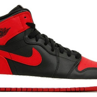 Air Jordan 1 High OG Bred Black Red and White (GS)