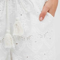 Somedays Lovin' Pitstop Broderie Shorts in White - Urban Outfitters