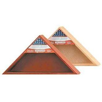 Military Flag Case with Shadow Box - for 5 X 9 Flag.