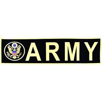 Army with Seal Metallic Bumper Sticker