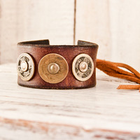Leather Cuff Men's Bracelet Jewelry - Holiday Gift For Him - Christmas Gifts - Boyfriend, Husband, Dad, Brother, Guy, Dude, Present