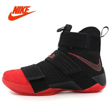 Original New Arrival Official NIKE LEBRON SOLDIER 10 Men's Cool Camouflage Basketball Shoes Sneakers