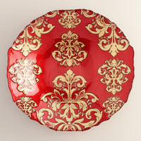 Red Buon Natale Glass Serving Bowl - World Market