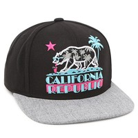 Riot Society Cali Republic Snapback Hat - Mens Backpack - Black - One