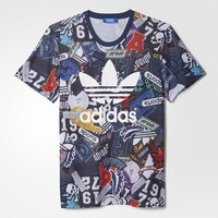 Adidas Originals Men's All-Over-Print Tee Shirt Size Large FREE SHIPPING AE4489