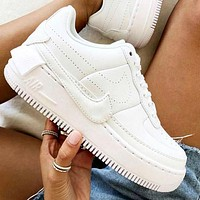 Air Force 1 Nike Af1 Jester Transformed Crooked Sneakers Flat Shoes Full White