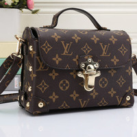 shosouvenir : LV Women Shopping Leather Crossbody Satchel Shoulder Bag