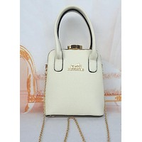 Hermes Diamond Bottle Cap Women Metal Chain Handbag Bag Satchel White